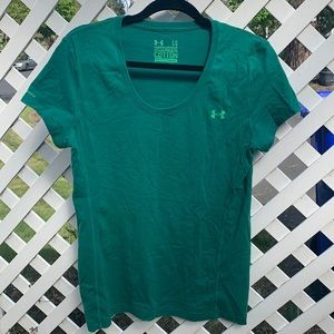 WOMEN'S LARGE UNDER ARMOUR SEMI-FITTED COTTON TEE